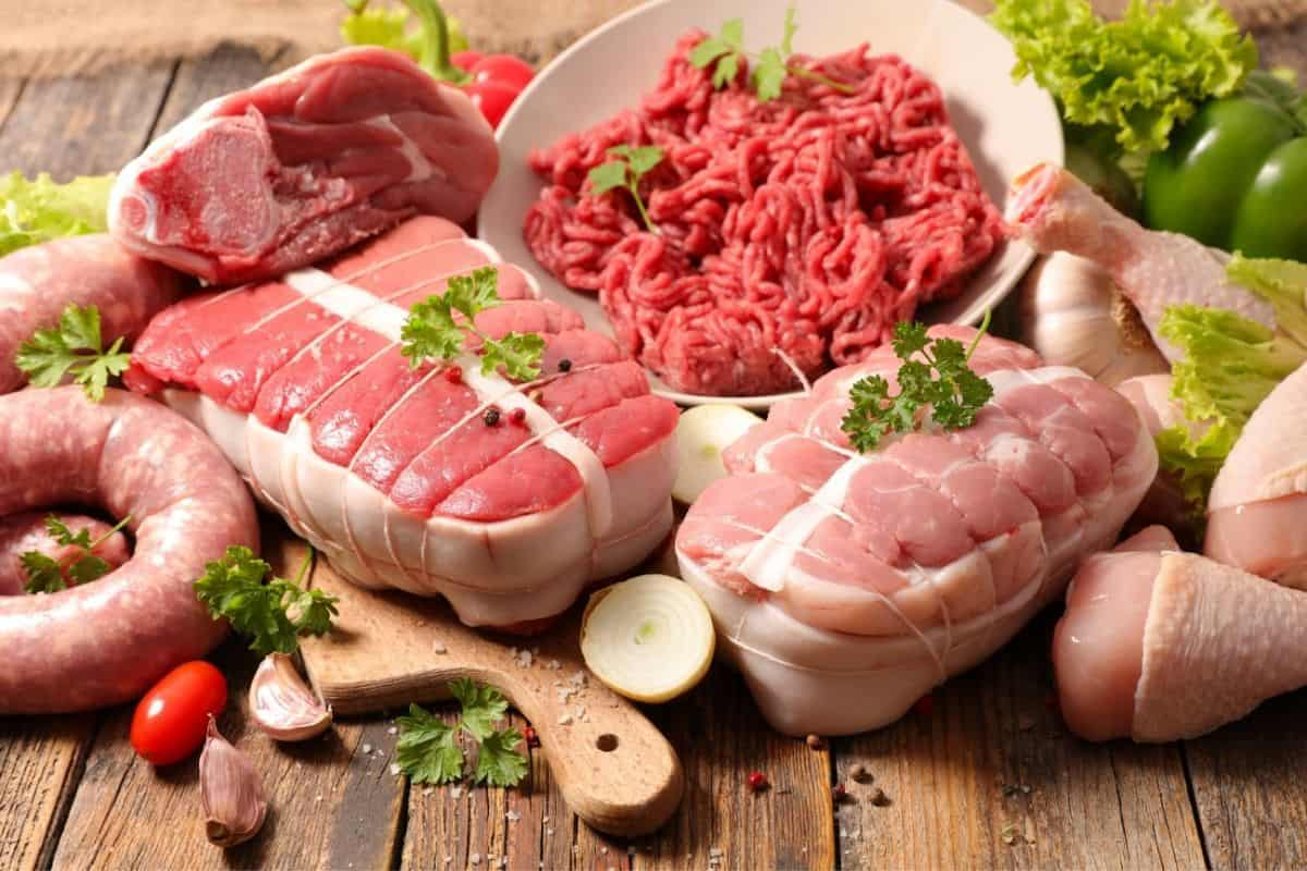 Picture of raw meat from the grocery