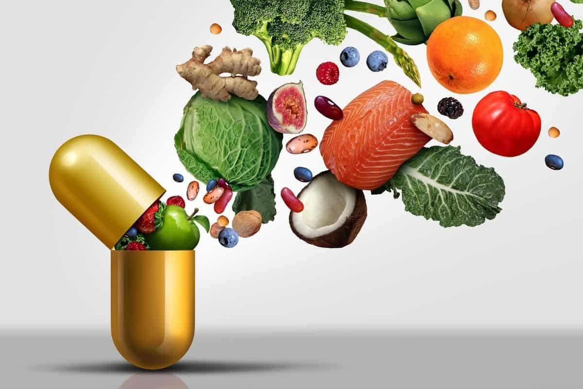 Raw food in a supplement form
